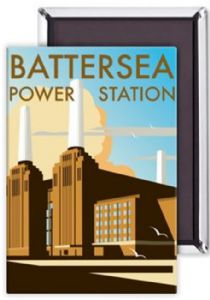 Battersea Power Station steel fridge magnet   (se)